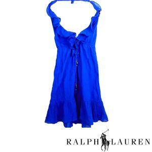 NWT Ralph Lauren Beautiful Blue Halter Dress